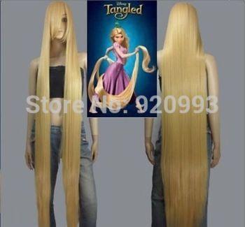 WQ & WF > >> Film Tangled Rapunzel longs blonds cos cosplay perruque pleine perruque 150CM