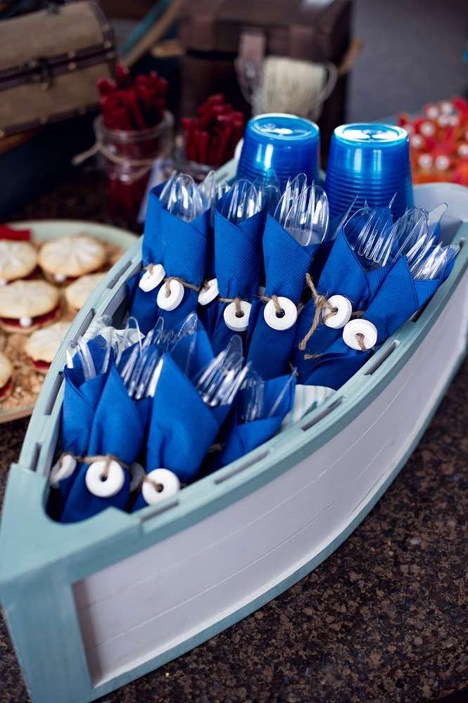 Weston's Nautical Themed 3rd Birthday | CatchMyParty.com