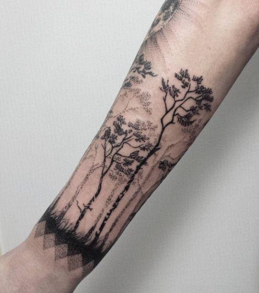 Sleeve Tree Tattoo by Magdalena Hipner