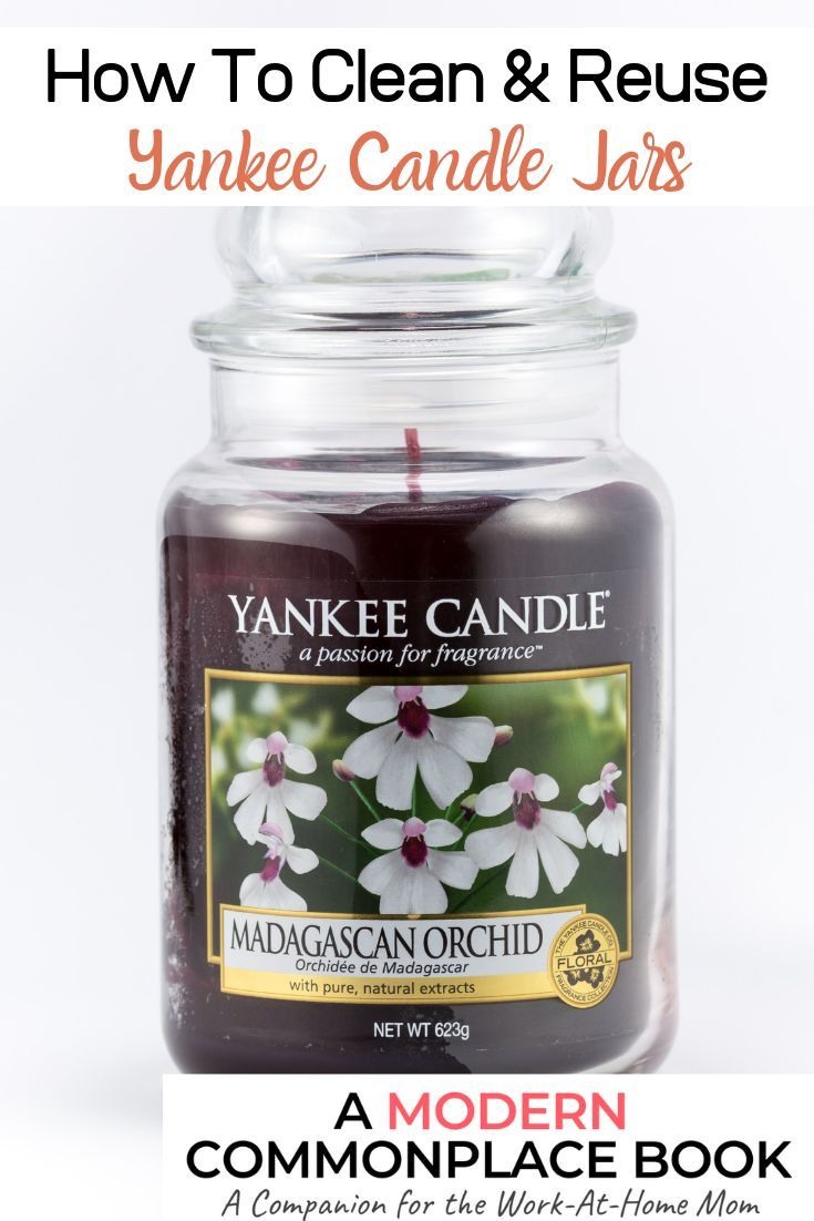 How To Easily Clean And Recycle Your Candle Jars Yankee Candle Jars Reuse Candle Jars Yankee Candle Jars