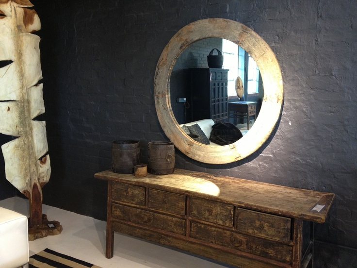 ♥ Weylandts weathered round mirror