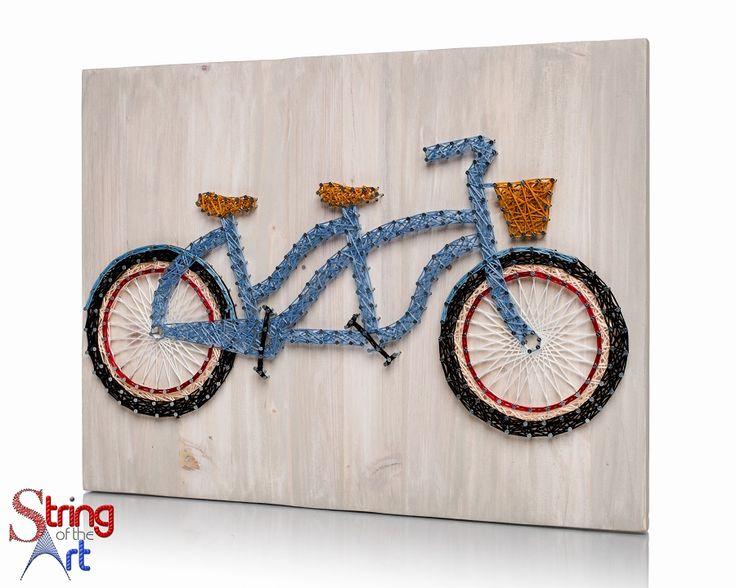 DIY String Art Kit - Bicycle String Art, Tandem Bicycle, Bicycle Decor, DIY Kit…