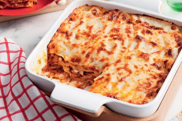 Layers of rich, meaty sauce and cheesy bechamel make this lasagne a total crowd-please: Give our super-easy version a go tonight!