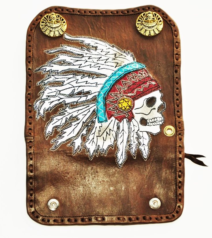 Wallet Indian Chief Skull (SOLD)