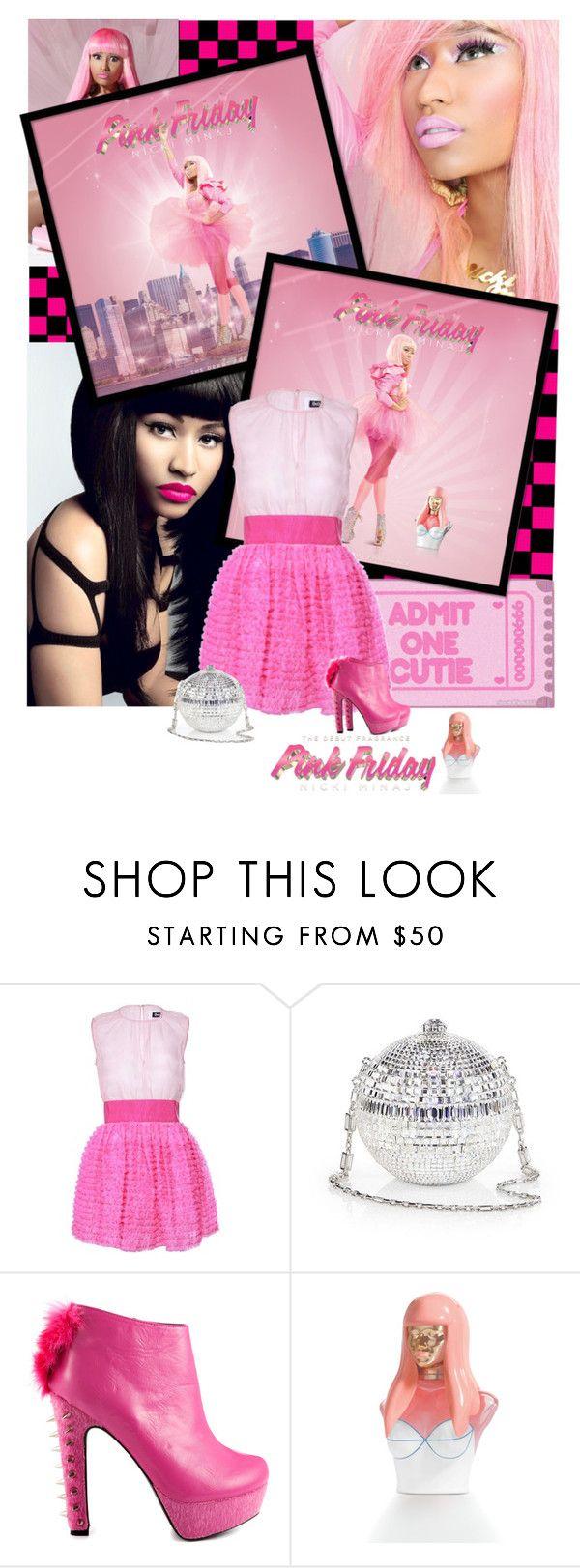pink friday nicki minaj by kendraborneman liked on polyvore featuring