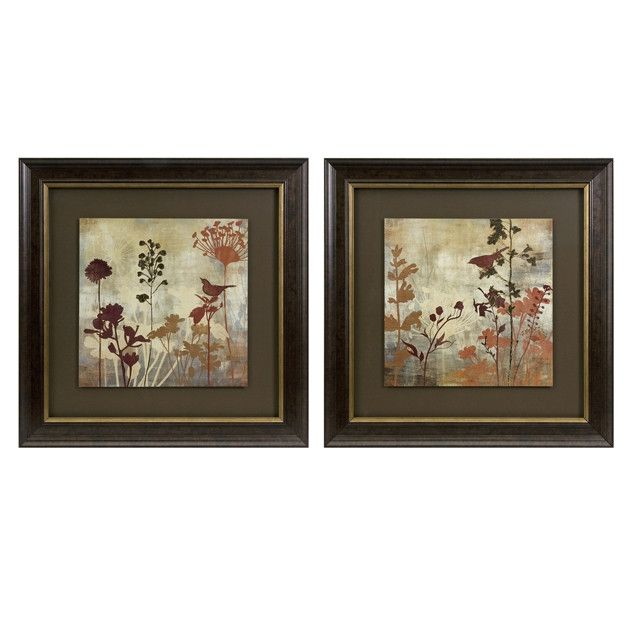Tibbits Silhouette Framed Art - Set of 2