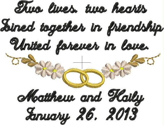 Two Lives Two Hearts Lace Handkerchief  Gift To Bride by elgies, $23.00