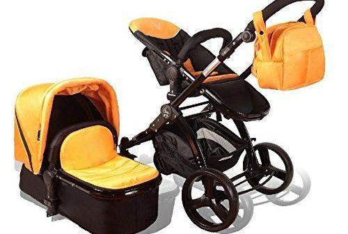 Elle Baby 3-in-1 ORANGE #Travel #System #Child #Stroller and #Pram