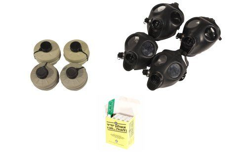 Gas Mask Family Kit Two (2) Adult + Two (2) Children Israeli Gas Mask w/ Original Nato Filter w/Anti radiation tablets - 20 Tablets (4 Packs) of 130 Mg Potassium Iodine by IDF - Israeli Defense Force. $129.90. The perfect family protective kit. You are receiving 2 adult size Israeli gas masks, 2 children size Israeli gas masks with their original 40mm NBC sealed filters. Total of 4 masks and 4 filters. To complete the family protection we are adding a 20 Potassium Iodide tablets...