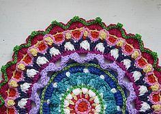 Ravelry: Mandala & Stool Cover pattern by Susan Carlson