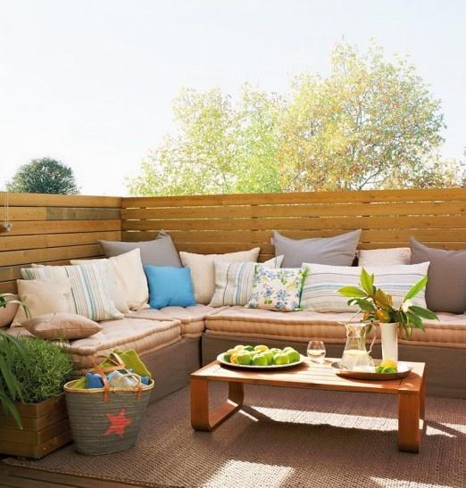 vintage romantic terrace design