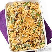Green Bean & Mushroom Mac Casserole
