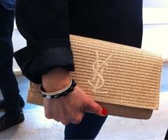 bags bags bagsFashion, Yves Saint Laurent, Ysl Raffia, Straws Bags, Raffia Clutches, Accessories, Monograms Clutches, Bags Bags, Ysl Clutches