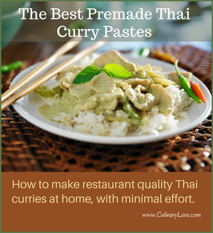 Yes, you can buy a good Premade Thai Curry Paste to Make Authentic Thai Curry  - CulinaryLore.com