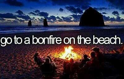 """""""Andare a un falò sulla spiaggia"""" #Bonfire #Beach #Sea #ToDoList"""