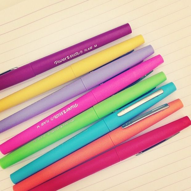 Papermate. I FREAKING LOVE these!! Yes, I know how nerdy that is, no I don't care!