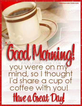 Goodmorning Share Cup Coffee Picture Image Graphic: