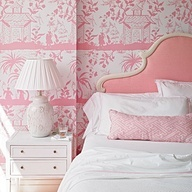 Luscious interiors | www.myLusciousLife.com - Palm Beach pink! Sweet girls bedroom ~ designer Meg Braff