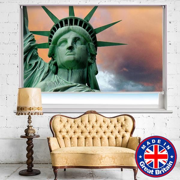 Statue Of Liberty Nyc Thunderstorm Photo Printed Picture Roller Blind Rb580 In 2019 Print Pictures Roller Blinds Prints