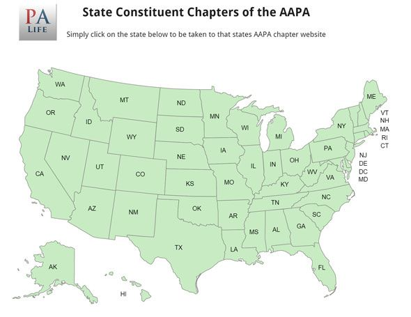 Best PrePA Resources Images On Pinterest Pa School Pa Life - Map of physician assistant programs in us