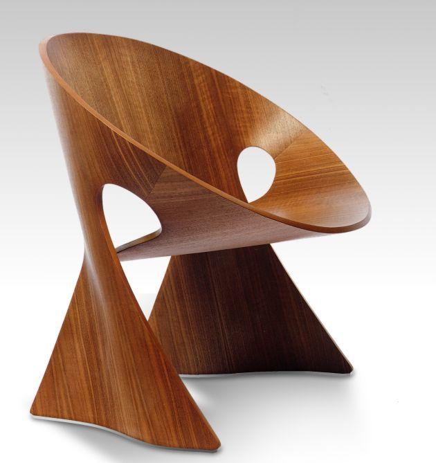 The Möbius Chair by Frans Schrofer... CONTRASTE DE FORMAS Y MATERIAL.... ME CUACHA... ;)