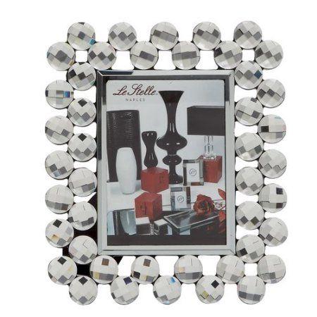 Decmode Wood Mirror Photo Frame, Multi Color, Multicolor