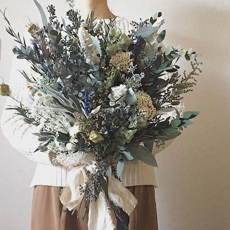 いいね!235件、コメント11件 ― yuka❁LAND of milk and honeyさん(@sol__y_)のInstagramアカウント: 「happy wedding...♡://my work💐 #driedflowers#weddingbouquet#lomh_flowers」