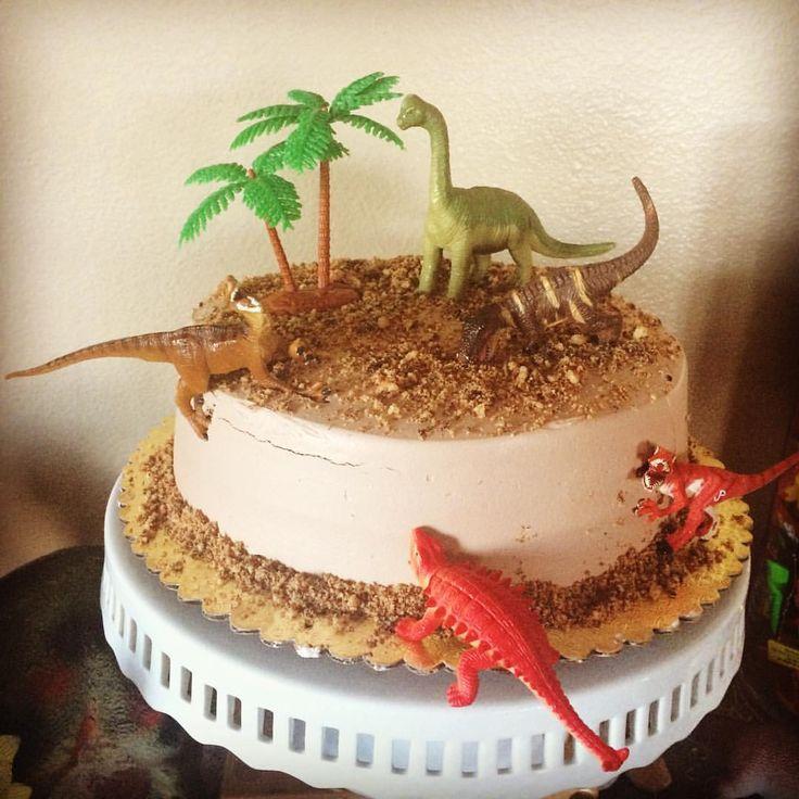 Easy Diy Dinosaur Birthday Cake Kids Birthday Party