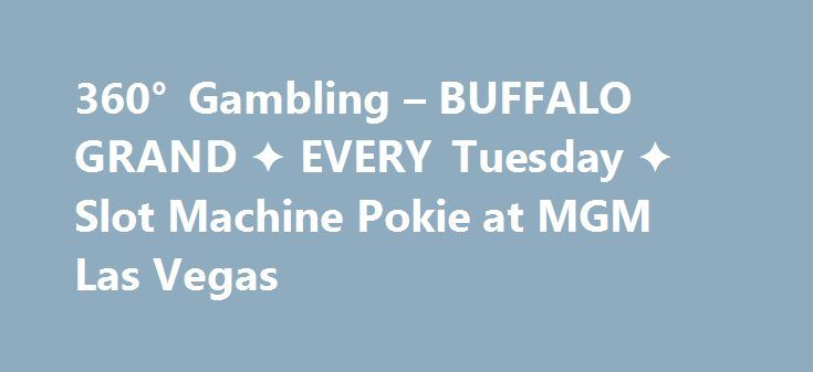 360° Gambling – BUFFALO GRAND ✦ EVERY Tuesday ✦ Slot Machine Pokie at MGM Las Vegas http://casino4uk.com/2017/11/20/360-gambling-buffalo-grand-%e2%9c%a6-every-tuesday-%e2%9c%a6-slot-machine-pokie-at-mgm-las-vegas/  360° Gambling – BUFFALO GRAND ✦ EVERY Tuesday ✦ Slot Machine Pokie at MGM Las VegasThe post 360° Gambling – BUFFALO GRAND ✦ EVERY Tuesday ✦ Slot Machine Pokie at MGM Las Vegas appeared first on Casino4uk.com.