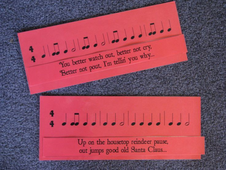 Christmas Rhythm Matchup - Match lyrics to rhythms. Again, perfect for when I'm busy with plays.