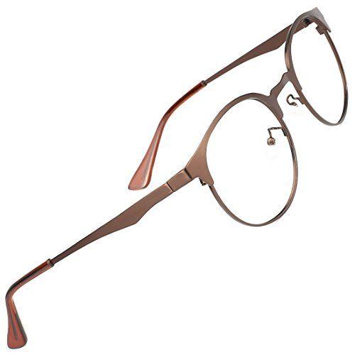 TIJN New Round Metal Non-prescription Glasses Frame with Clear Lens #TIJN #Round #Metal #prescription #Glasses #Frame #with #Clear #Lens