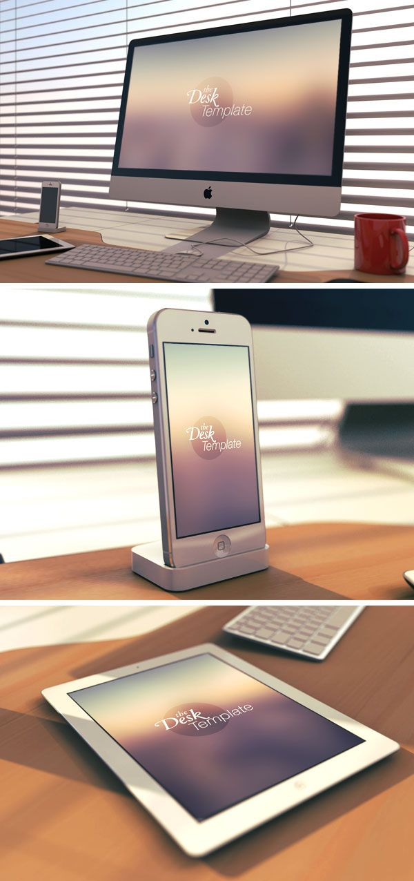 Desk Template PSD | GraphicBurger