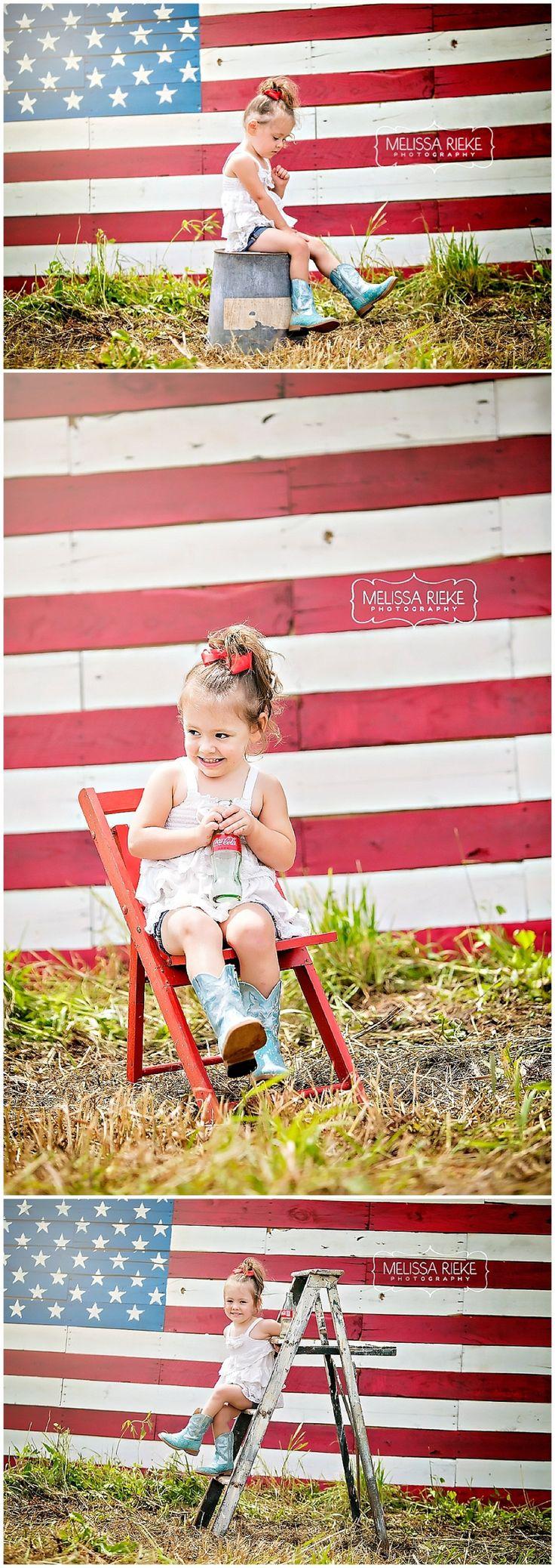 Vintage Americana - Melissa Rieke Photography - Kansas City Photographer - Flag - Forth of July