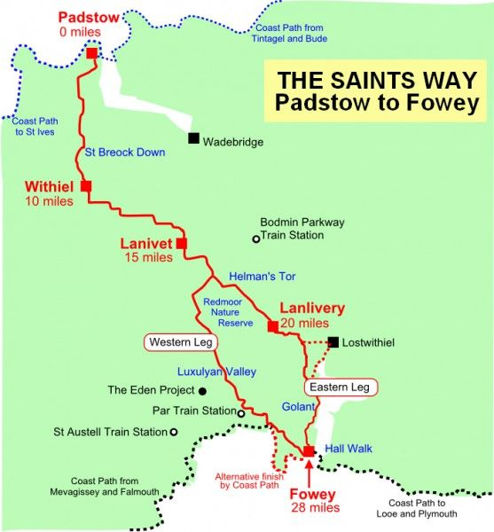 Saints Way Map for Walkers and Saints Way Guidebook and information