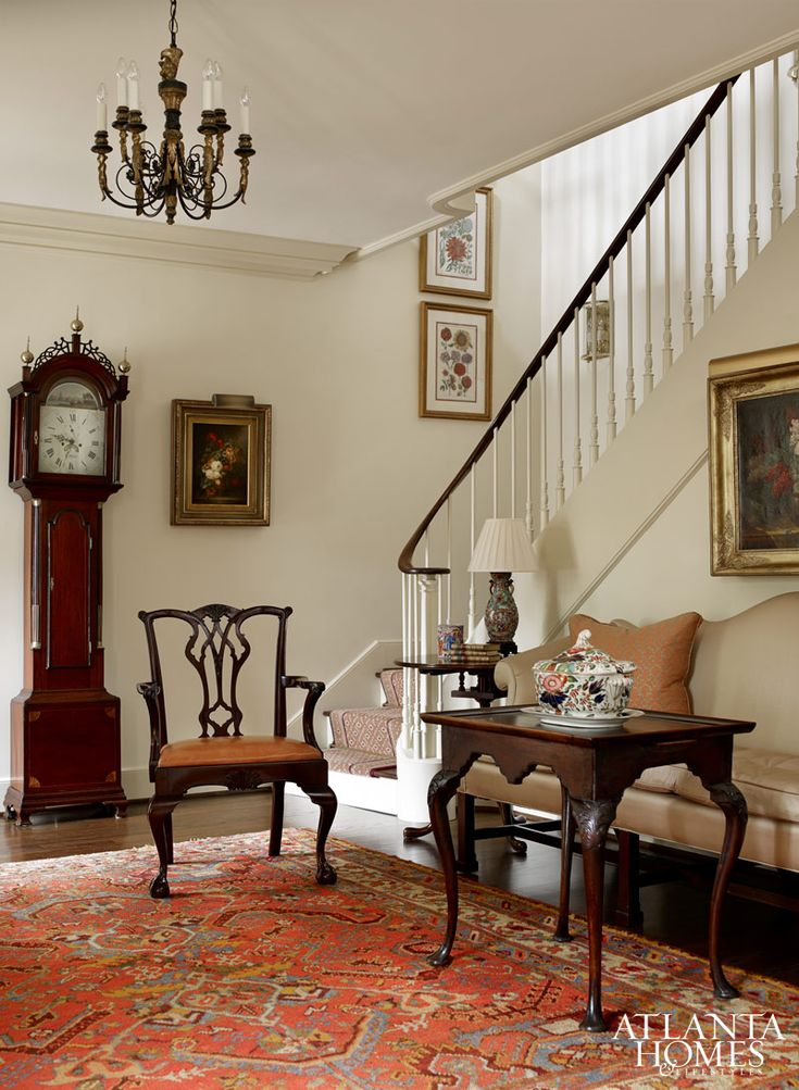 A very Southern-charmed foyer/parlor