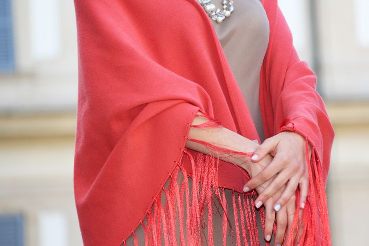 Elegance details of our Serena shawl. Discover it on shop.marinafinzi.... #MadeinItaly