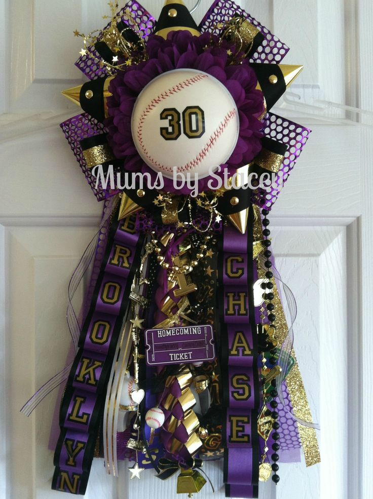 Homecoming garter 2013 baseball themed - Mums by Stacey