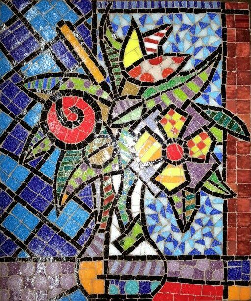 Final, ya empastinado. Cuadro  Venecitas/Mosaiquismo inspirado en Romero Britto