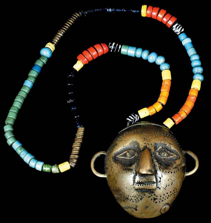 NAGA BEADED HEAD HUNTING NECKLACE BRASS HEAD TAKING PENDANT DAVID HOWARD TRIBAL ART NAGALAND TRIBE COLLECTOR ASIAN ARTIFACT