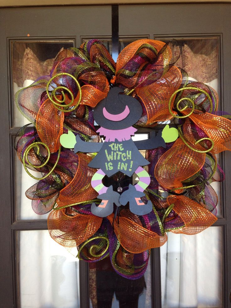 9 best images about deco mesh wreaths on pinterest deco - Deco halloween diy ...