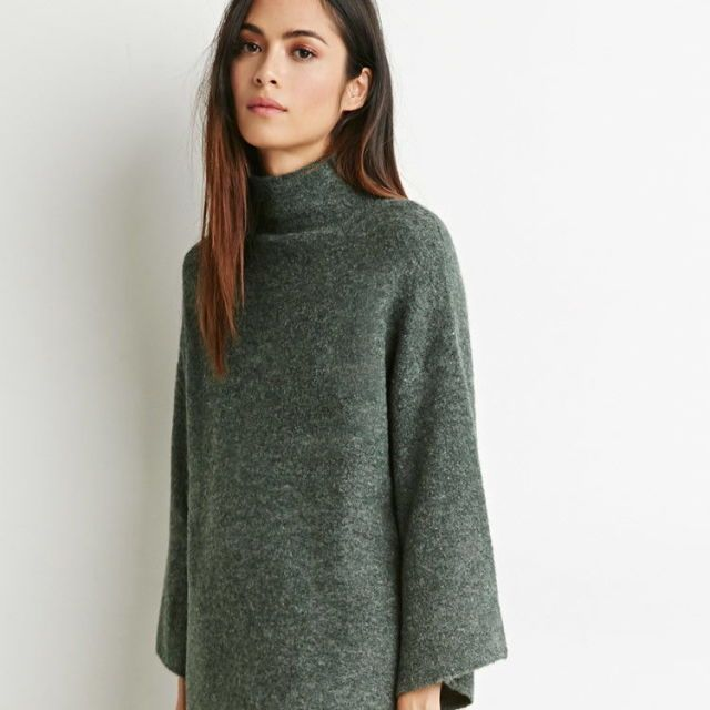 Contemporary Mock Neck Oversized Sweater