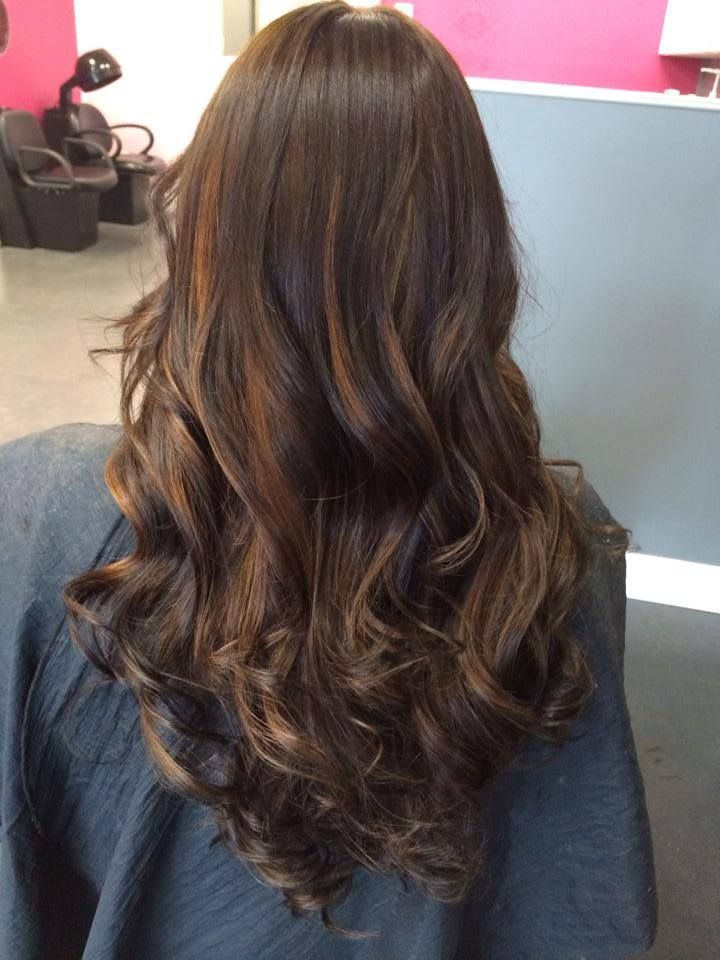 Long Layered Cut With Natural Light Brown Highlights