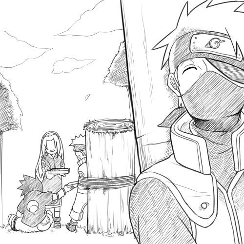 The Moment kakashi was just waiting for this to happen ^-^