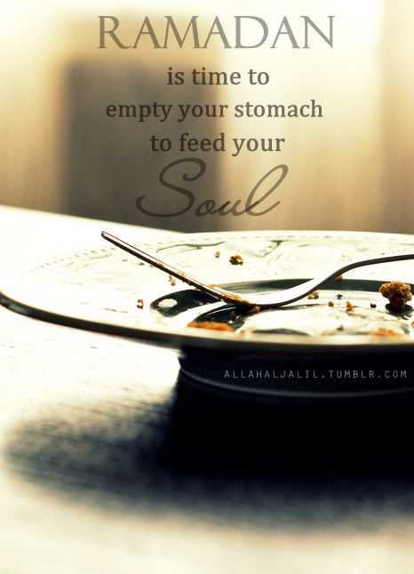 Empty your stomach and feed your soul.
