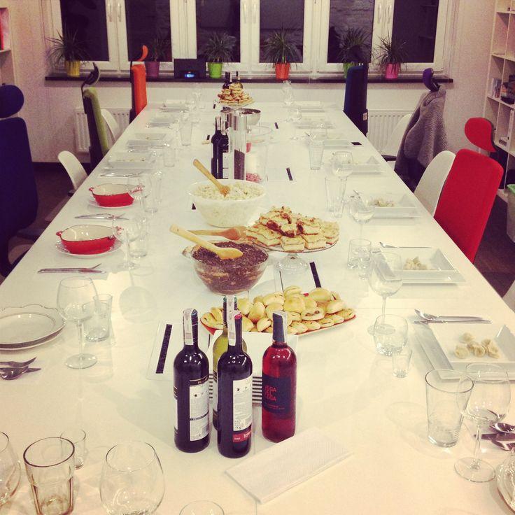 #xmas #christmas #eve #dinner #together #iteo #team #celebrating #carols #kutia #paszteciki #barszcz