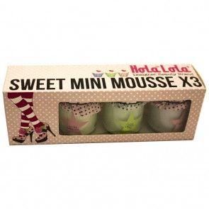 Estuche Mini Mousse x3 http://spa-depot.co/hola-lola/regalos-holalola.html