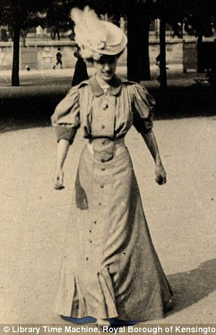 Another shot of Sambourne's friend Helen du Bois playing handball in a formal dress on 4 June 1906.