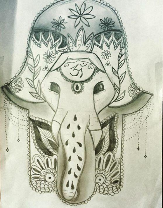 Mano di Fatima - Disegno a matita