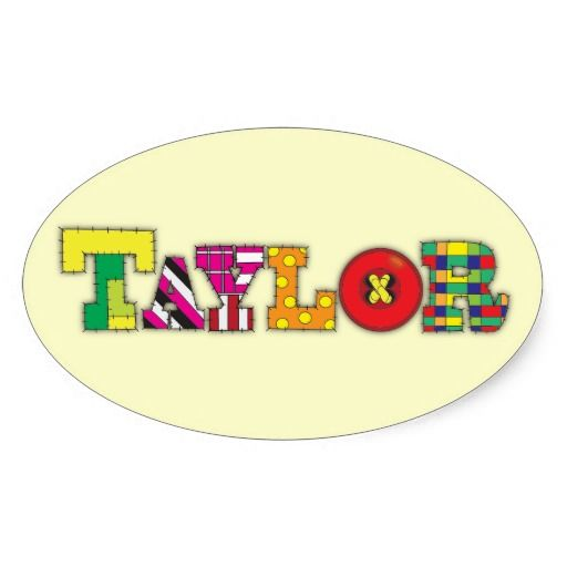 Taylor Oval Stickers