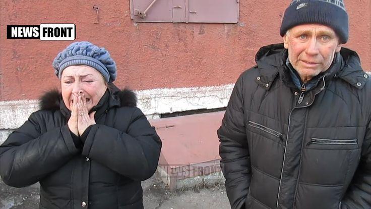 Укроповские сволочи  Порошенко,что они делали на Донбассе. Их тварей надо танками давить!!! Жители Горловки готовы голыми руками разорвать карателей (18+)